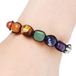 Bracelet 7 Chakras Cristal de Roche