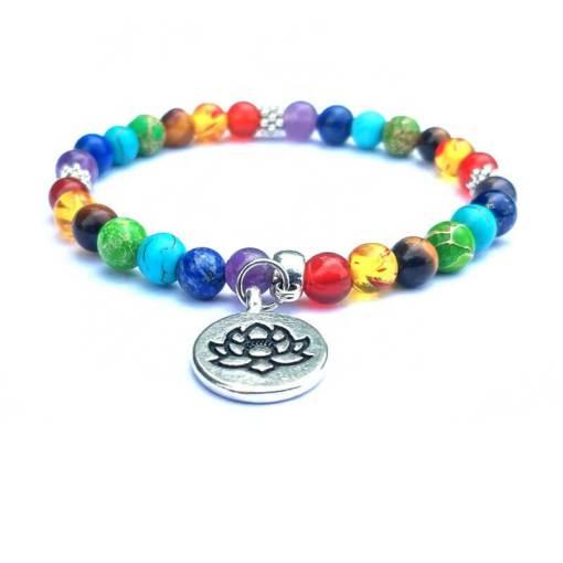 Bracelet 7 Chakras Lotus