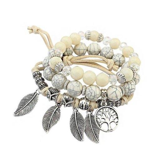 Bracelet arbre de la vie blanc amérindien