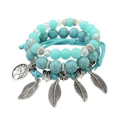 Bracelet Arbre de la Vie Bleu Amérindien
