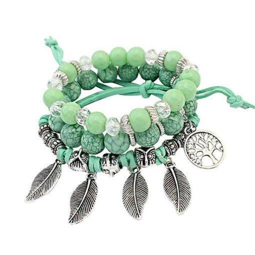 Bracelet Arbre de la Vie Vert Amérindien