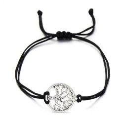 Arbre de vie bracelet chance noir