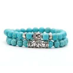Bracelet Bouddha Turquoise Anti-Douleur