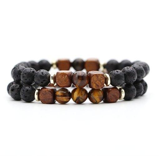 bracelet homme perle oeil du tigre