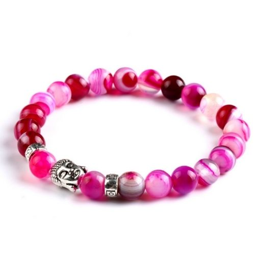 Bracelet Perle Rose Bouddha