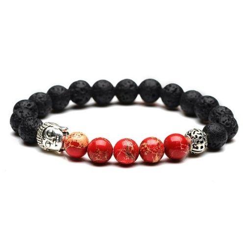 Bracelet Zen Femme Bouddha Rouge