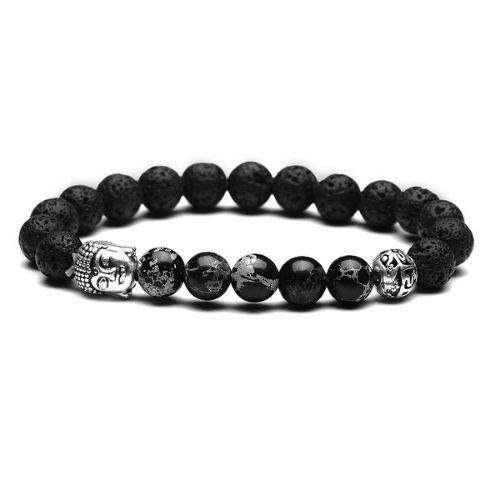 Bracelet Zen pour Homme Bouddha Noir