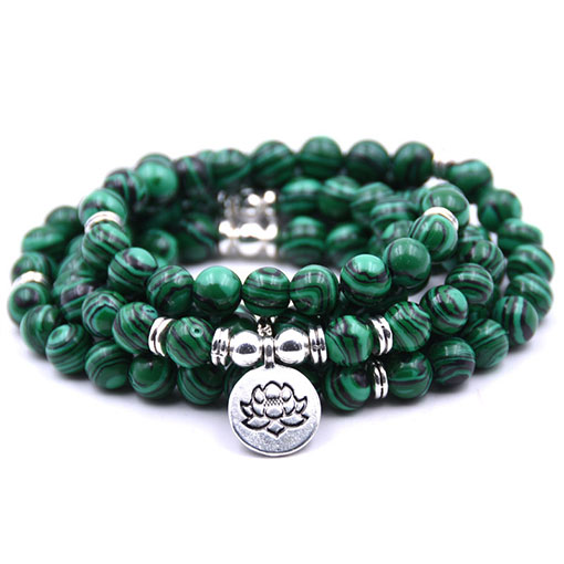 Mala Mantra en malachite