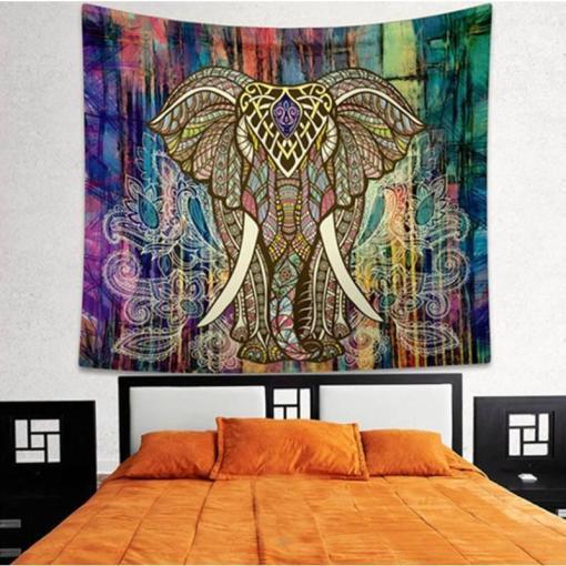 Tenture Mandala Éléphant Sagesse