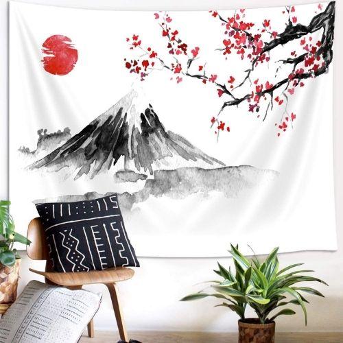 Tenture Murale Japonaise Mont Fuji