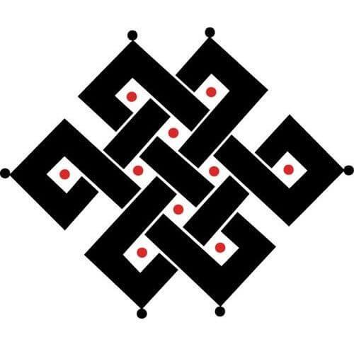Symbole Bouddhiste - noeud infini
