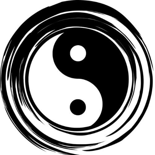 Symbole du yin et du yang - symbole bouddhisme tibétain