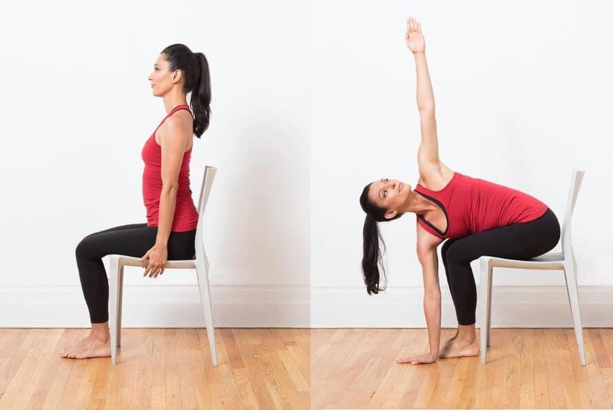 yoga sur une chaise
