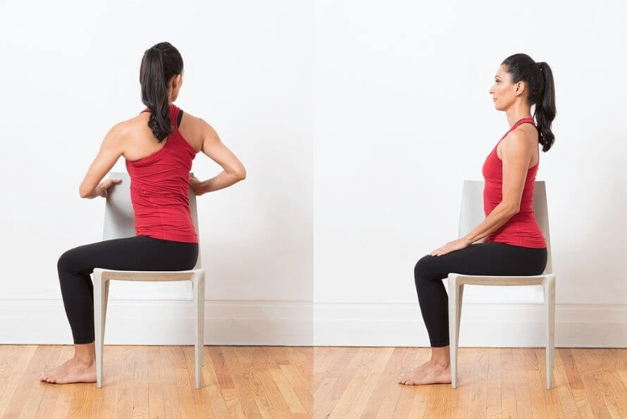 chaise spinal twist