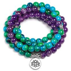 Bracelet Mala 108 Perles - Mala Tibétain - Sept Chakras