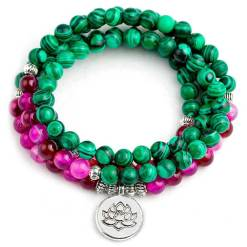 Bracelet Mala Tibétain Femme - Mala Tibétain - Sept Chakras