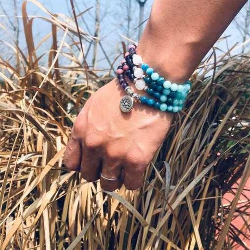 Bracelet Mala Yoga - Mala Tibétain - Sept Chakras