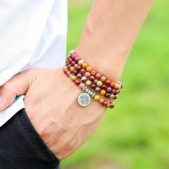 Bracelet Tibétain Mala Mokaïte - Mala Tibétain - Sept Chakras