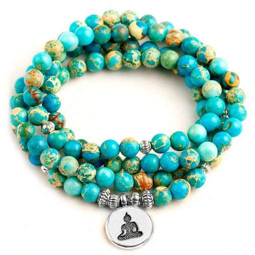 Collier Yoga Mala Océan - Mala Tibétain - Sept Chakras