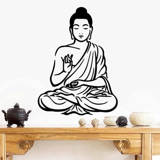 Stickers Zen Bouddha - Décoration zen - sept chakras