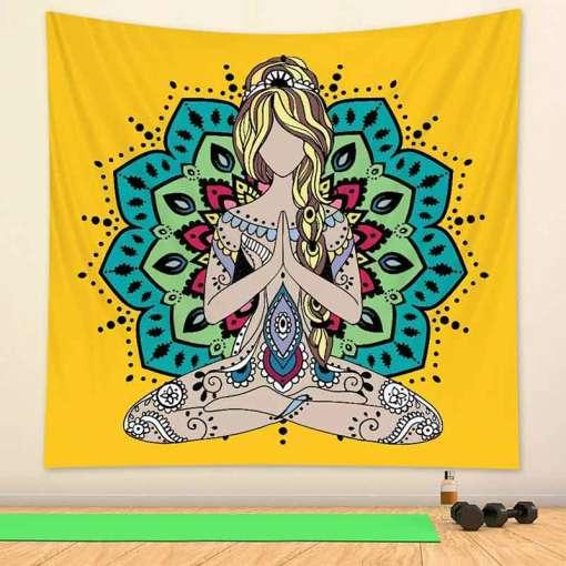 Tenture tapisserie murale - Décoration zen - sept chakras
