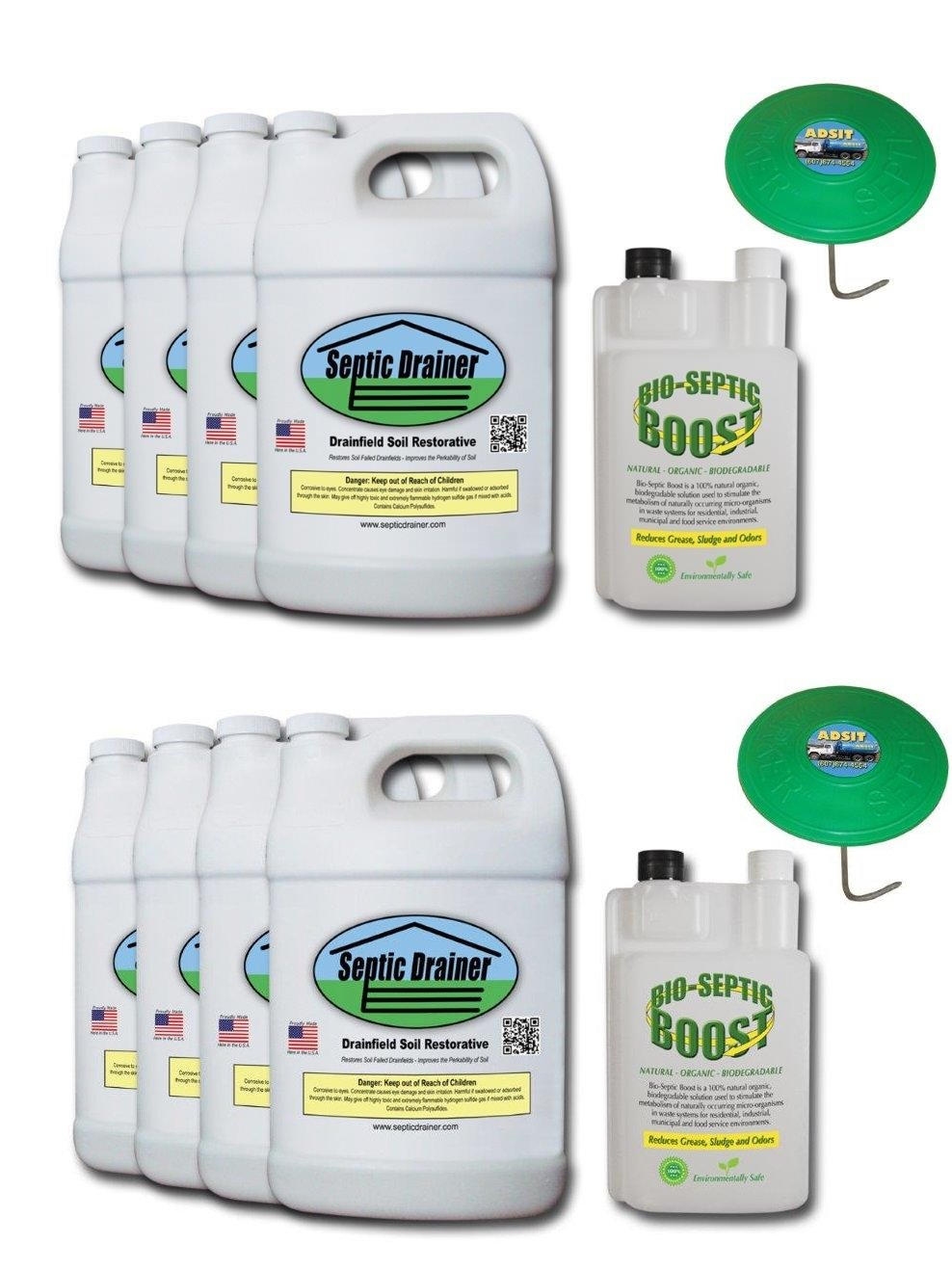 Mega Drain Field Repair Kit   Use For Repairing Large Residential Systems    Includes 8 Gals of SD, 2 Bio-Septic Boosts $559 99 (8 gals Septic Drainer,