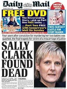 עוד סאלי קלארק, הורשעה בטעות ברצח ילדיה ומתה לאחר מכן בביתה