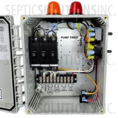 Septic Pump Alarm Wiring Diagram Gm Cs130 Alternator Bio B Double Light Aerobic Control Panel Free Shipping