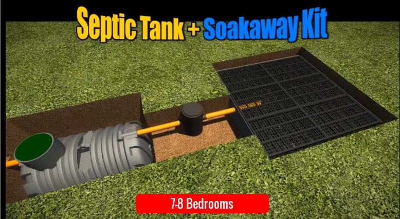 Septic Tank Soakaway 7-8 Bedroom