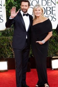 Actor Hugh Jackman and wife Deborra-Lee Furness arrive at the 70th annual Golden Globe Awards in Beverly Hills