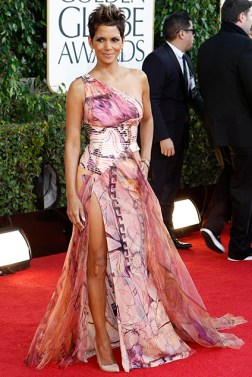 Actress Halle Berry arrives at the 70th annual Golden Globe Awards in Beverly Hills