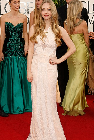 "Amanda Seyfried of the film ""Les Miserables"" at the 70th annual Golden Globe Awards in Beverly Hills"
