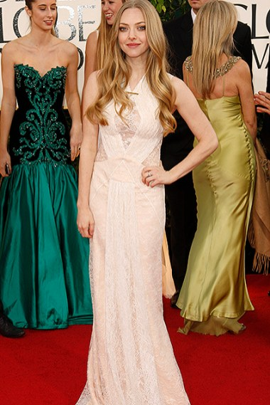 """Amanda Seyfried of the film """"Les Miserables"""" at the 70th annual Golden Globe Awards in Beverly Hills"""