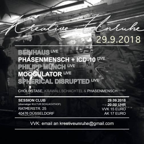 29.9. Moogulator, Beinhaus, Spherical Disrupted, Phasenmensch, Philipp Münch