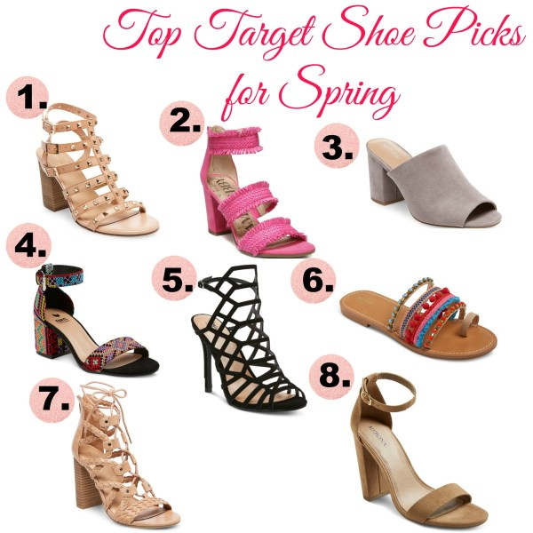 top target shoe picks for sping