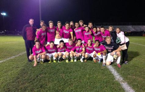 Boys Soccer Centennial and Cancer Awareness Game Ends in a Win Over Biggest Rival
