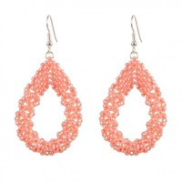 Drop Earrings Large 'Light Peach'