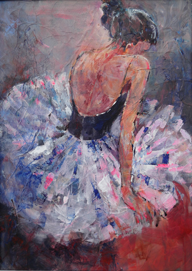 Image result for sitting ballerina painting