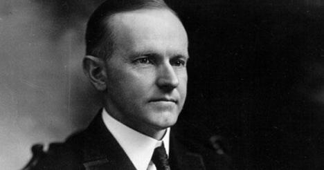 Calvin Coolidge, 30th President of the United States.