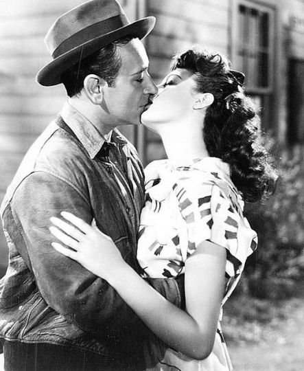 Ava Gardner and George raft in Whistle Stop ('45}. The kiss that made her career.