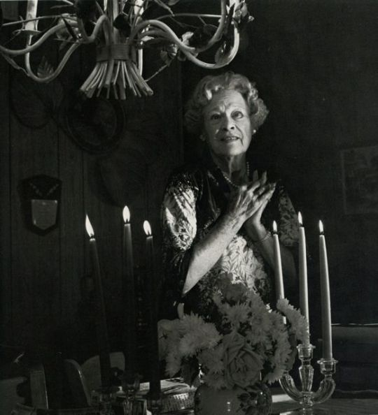 """Esther Ralston in 1981, photo by Horst. From the invaluable book about elderly silent stars, """"Return Engagement"""", by James Watters, Photos by Horst."""