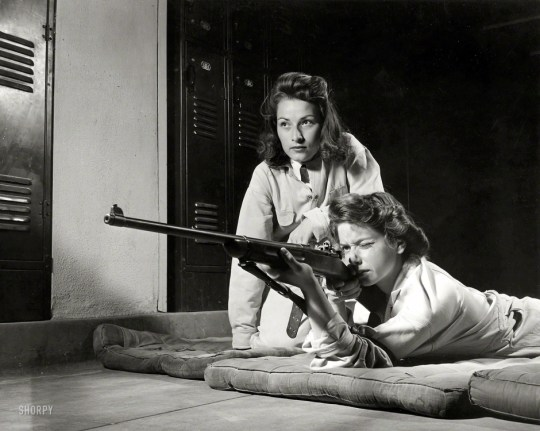 "The original caption to this photo reads: ""Training in marksmanship helps girls at Roosevelt High School in Los Angeles develop into responsible women. Part of Victory Corps activities."" 1942. You see, there was a time when America understood the importance of the Second Amendment. There was a time when America was not steeped in moral relativism and suicidal pacifism."