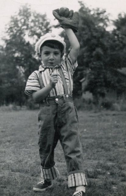 Yours truly in baseball mode. Some of my best memories are playing catch with my father on hot Summer days.