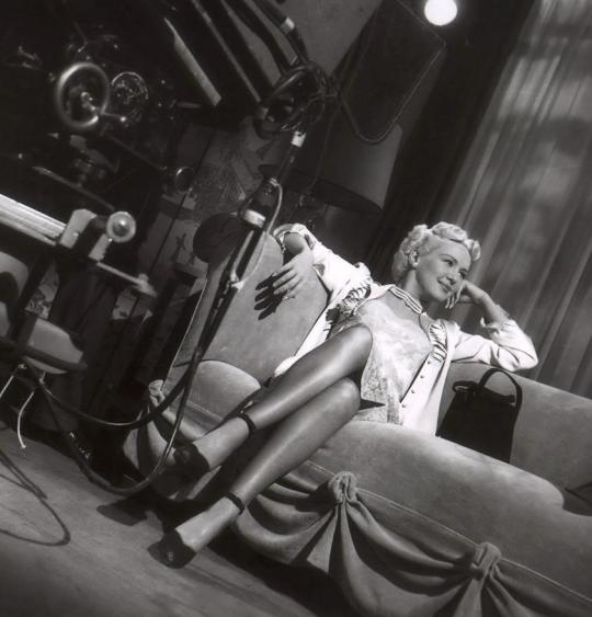 """There are two reasons why I am successful in show business and I am standing on both of them."" —Betty Grable, 1950"