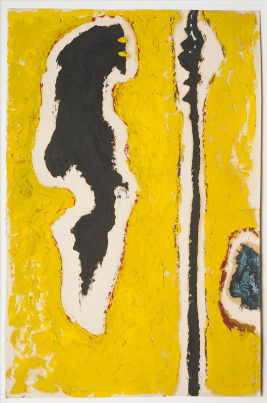 Clyfford Still, PH-489, 1944, Oil on paper, 20 x 13.25 in.