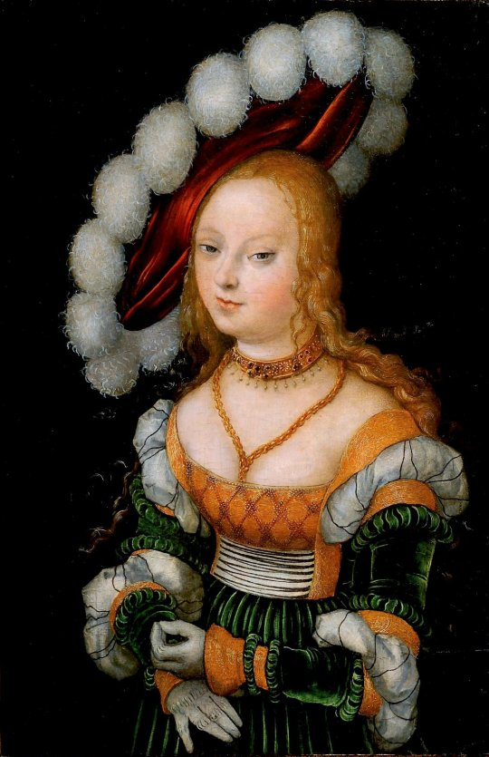 Lucas Cranach the Younger (1515-1586)  Portrait of a Girl