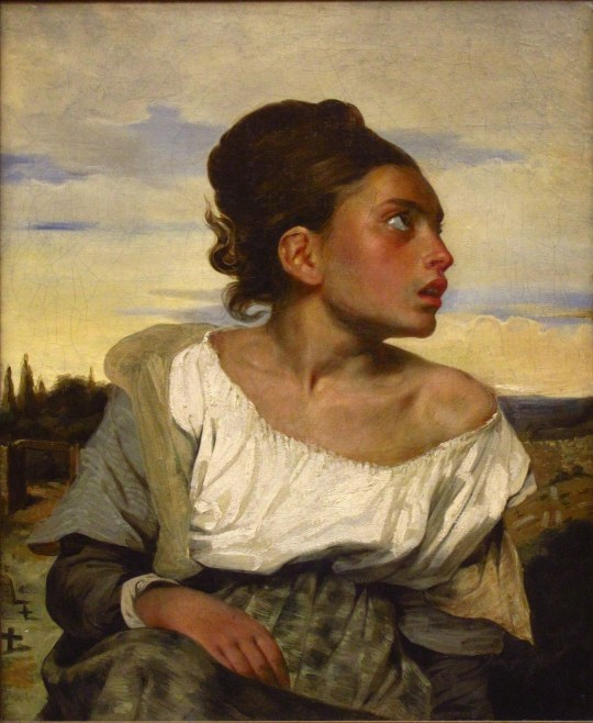 """Eugène Delacroix, """"Orphan Girl at the Cemetery,"""" 1824"""
