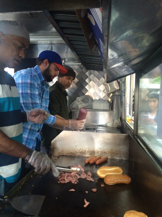 Inside the Kosher for Passover pop-Up Truck, Midtown Manhattan, April 27, 2016. Photo by Robert J. Avrech