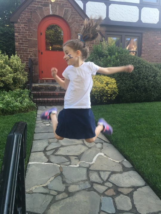 Jumping for joy, Maayan wishes all our friends and relatives a lovely and inspirational Shabbat.