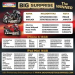 Pemenang Promo BIG Surprise Indomaret September - Oktober 2016